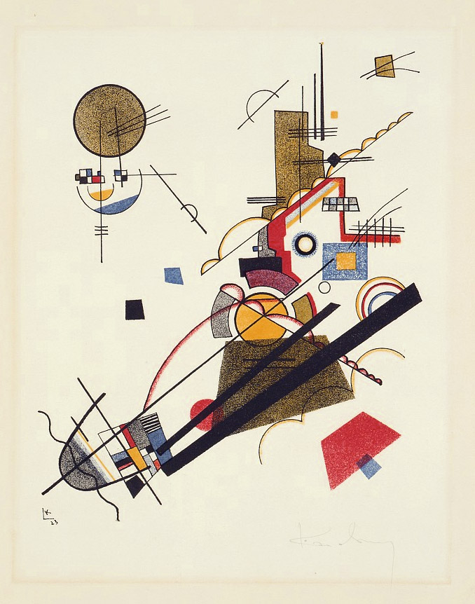 Joyful Arising (1923)  by Wassily Kandinsky