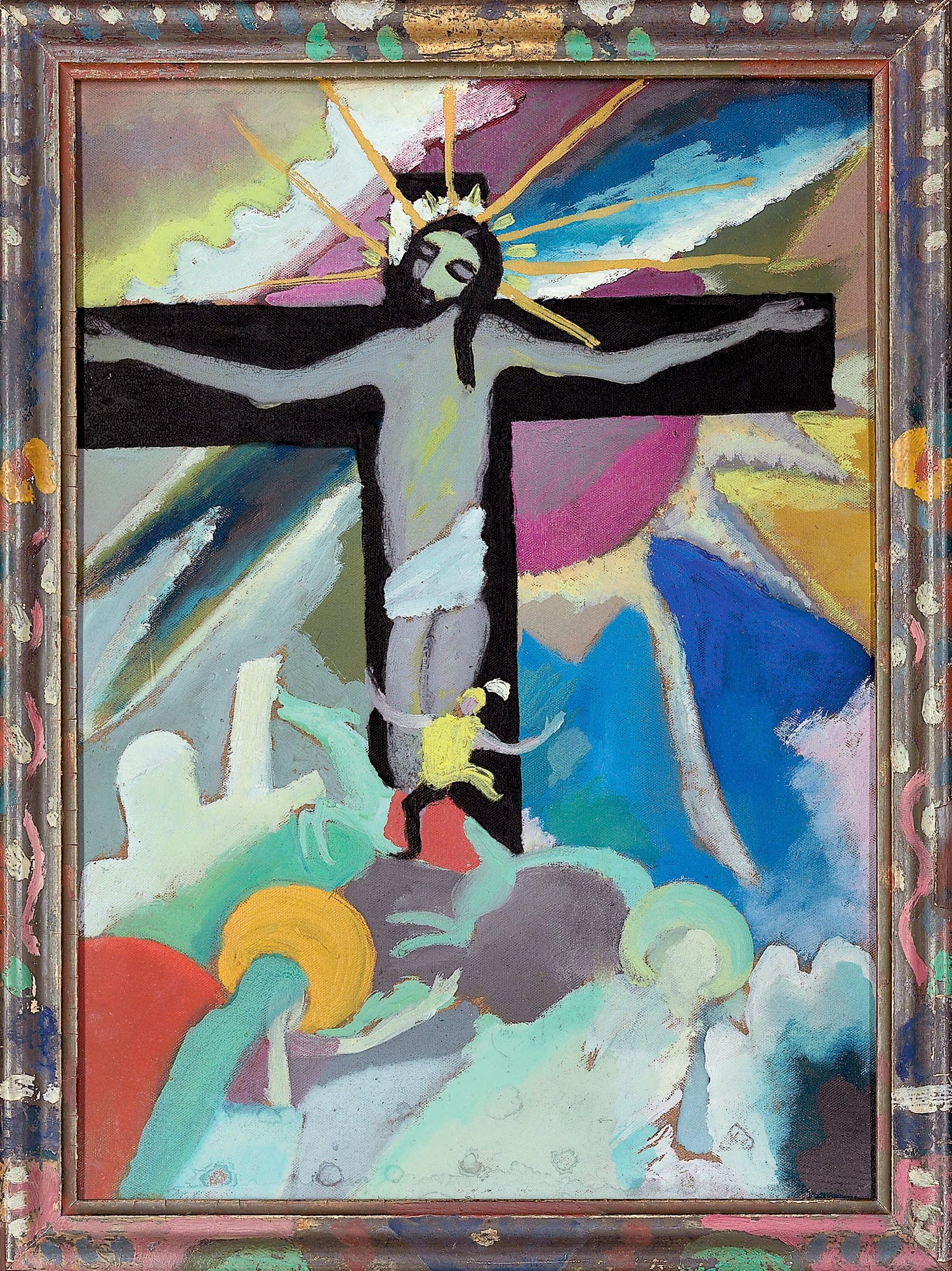 Crucified Christ (1911)  by Wassily Kandinsky