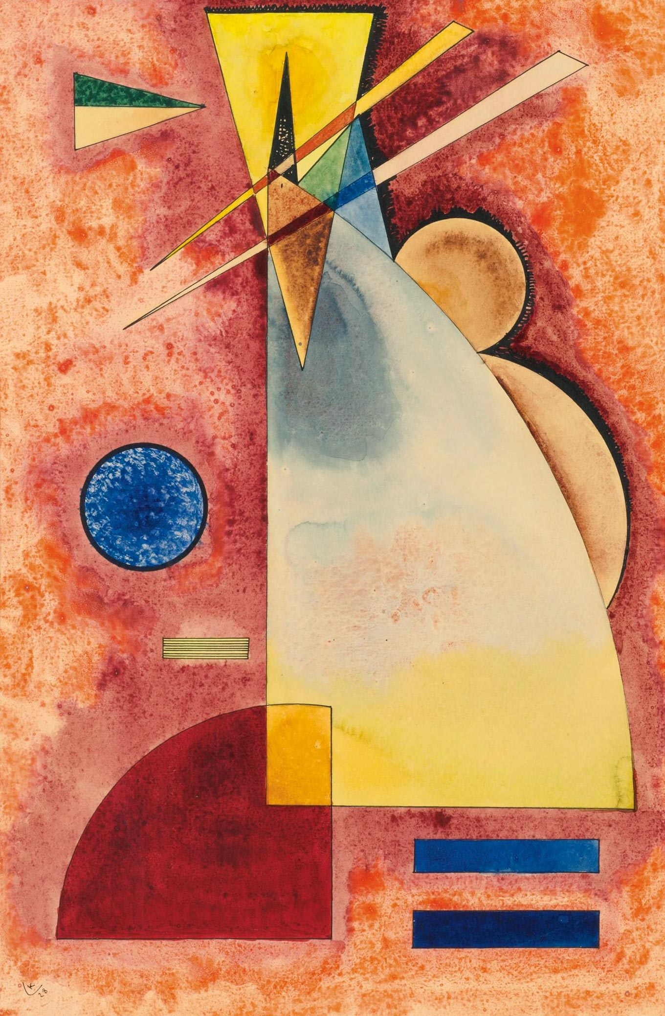 Intermingling (1928)  by Wassily Kandinsky