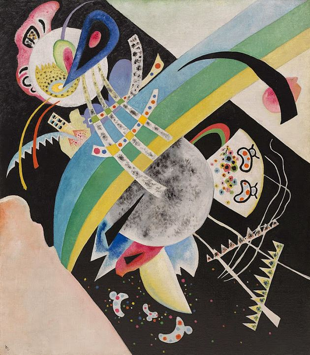 Circles on Black (1921)  by Wassily Kandinsky