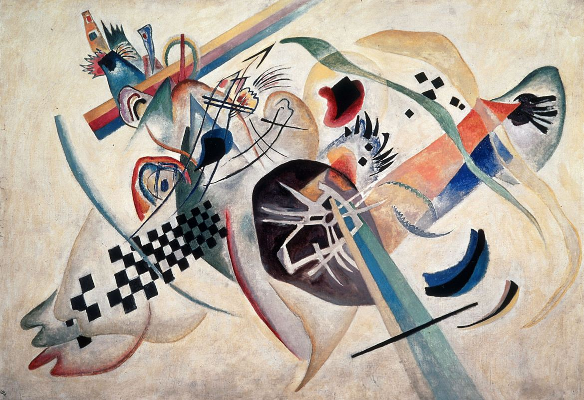 Composition #224 (On white) (1920)  by Wassily Kandinsky