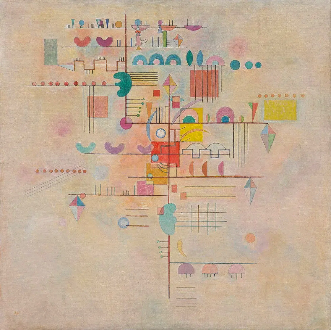 Gentle Ascent (1934)  by Wassily Kandinsky