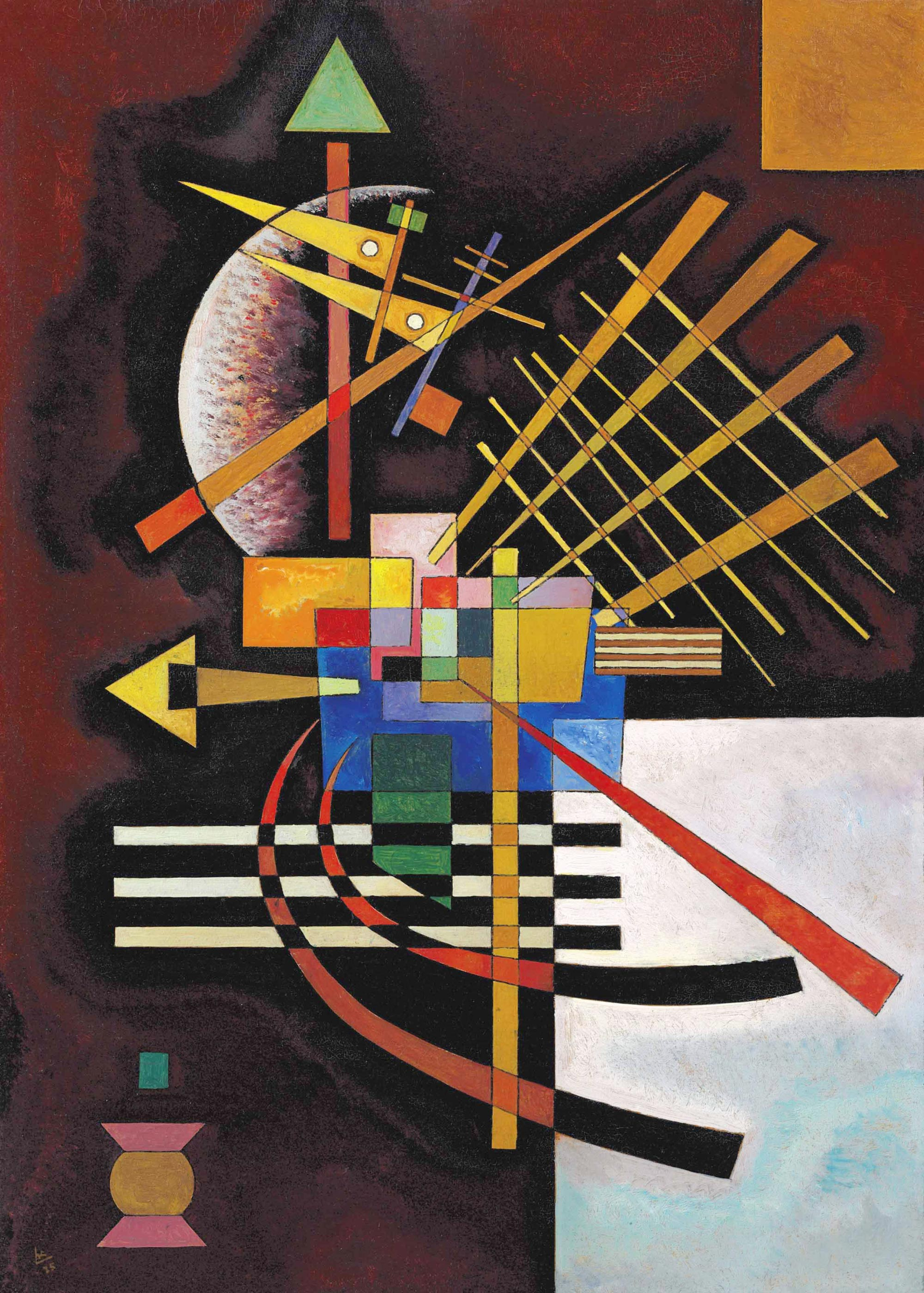 Above and Left (1925)  by Wassily Kandinsky