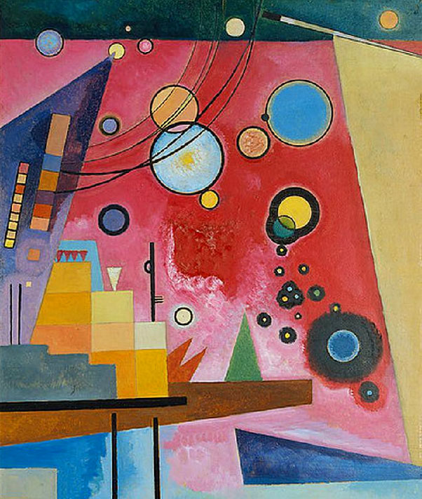 Heavy Red (1924)  by Wassily Kandinsky