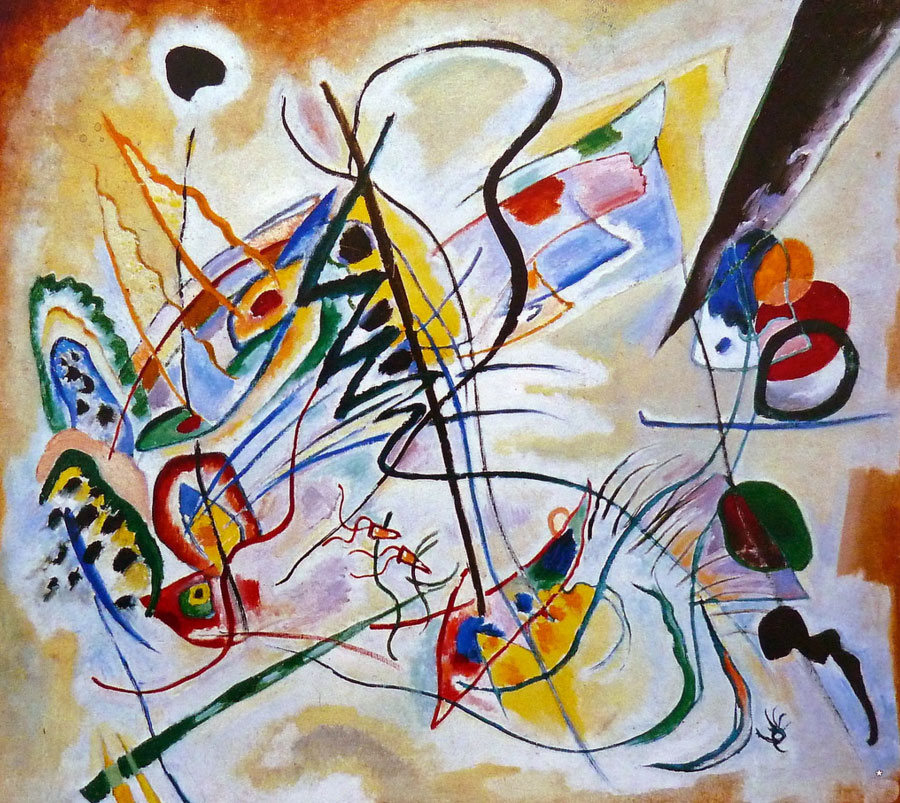 Violet Wedge (1919)  by Wassily Kandinsky