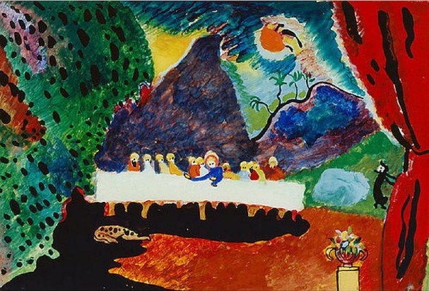 Last Supper (1909)  by Wassily Kandinsky