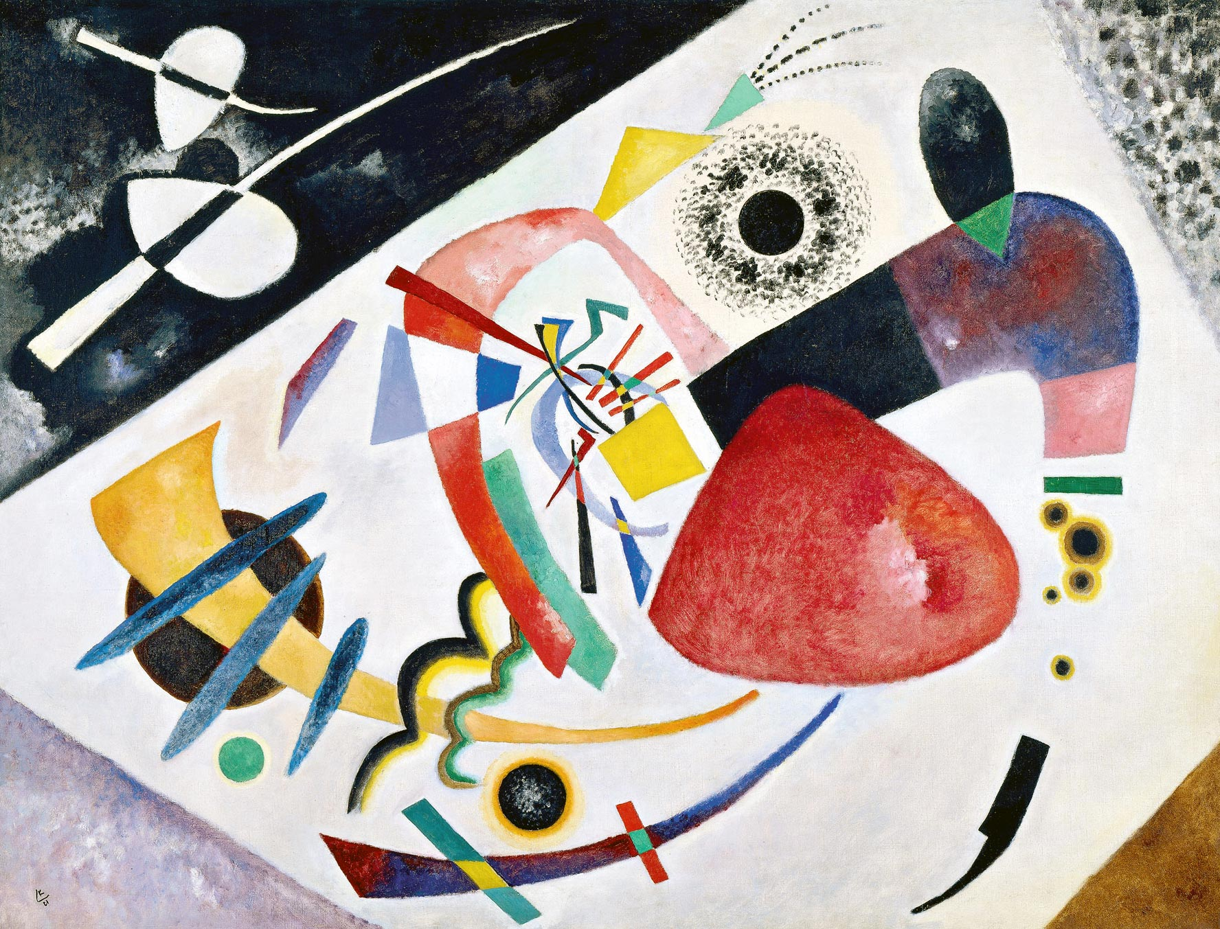 Red Spot II (1921)  by Wassily Kandinsky