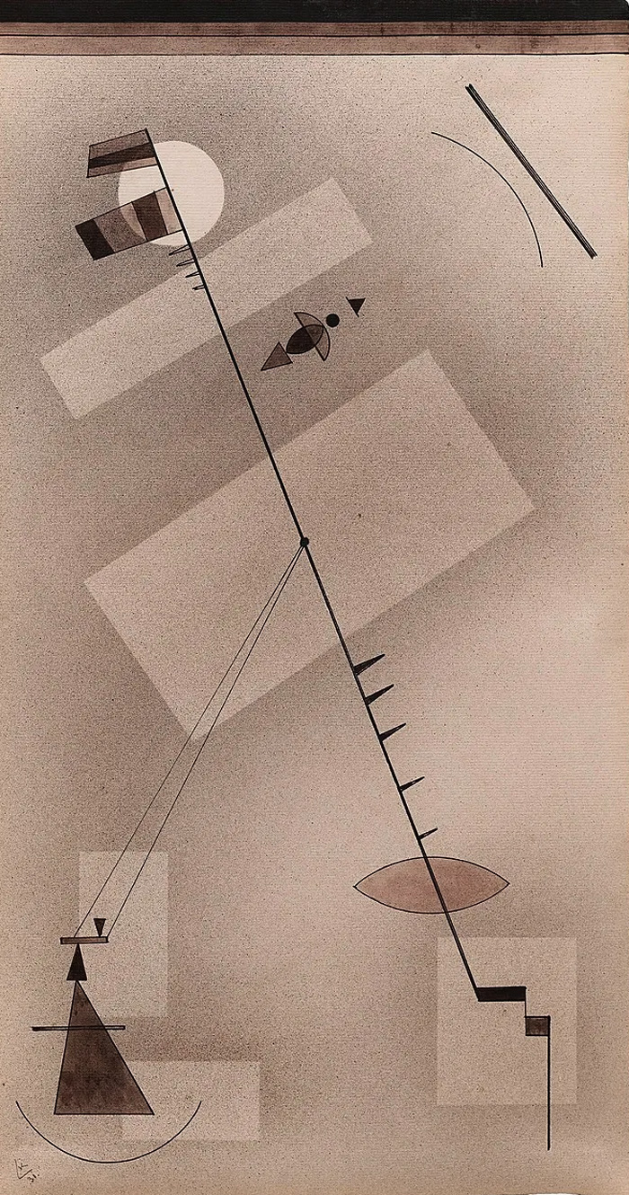 Taut Line (1931)  by Wassily Kandinsky