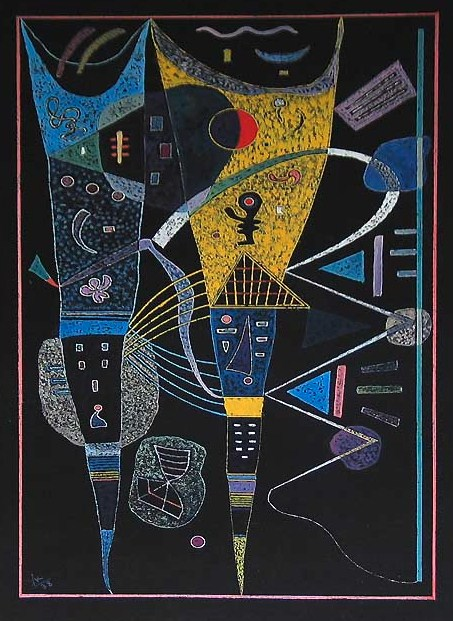 Double tension (1938)  by Wassily Kandinsky