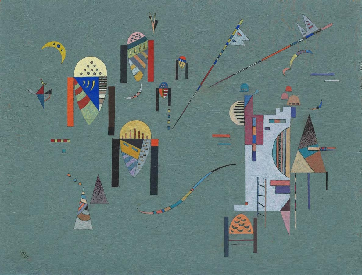 Vertical Accents (1942)  by Wassily Kandinsky