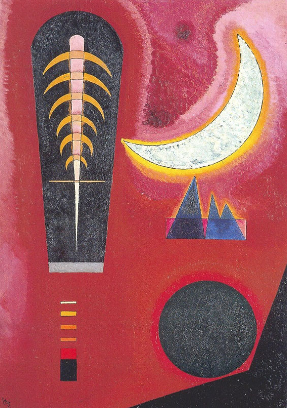 Free in Red (1925)  by Wassily Kandinsky