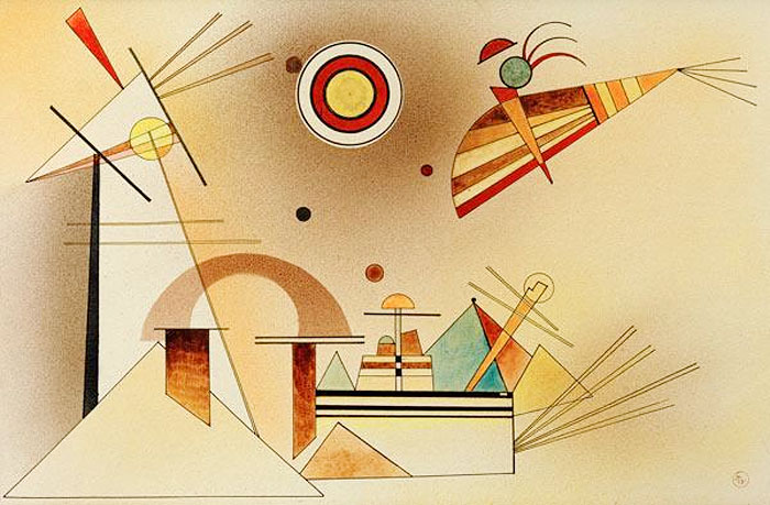 Reduced Weight (1928)  by Wassily Kandinsky