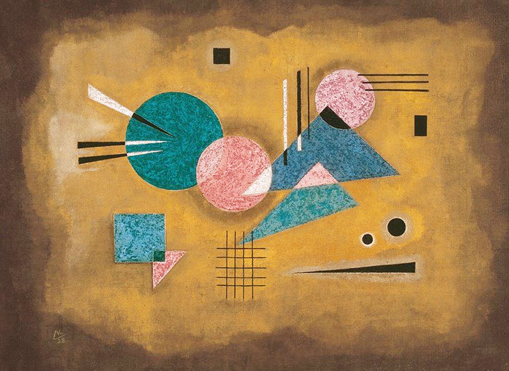 Fusing Pink (1928)  by Wassily Kandinsky
