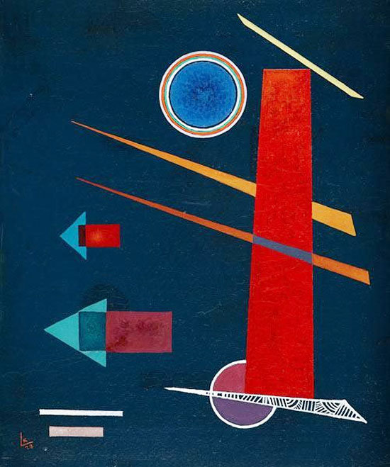 Mighty Red (1928)  by Wassily Kandinsky