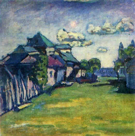 Moscow Environs (1908)  by Wassily Kandinsky