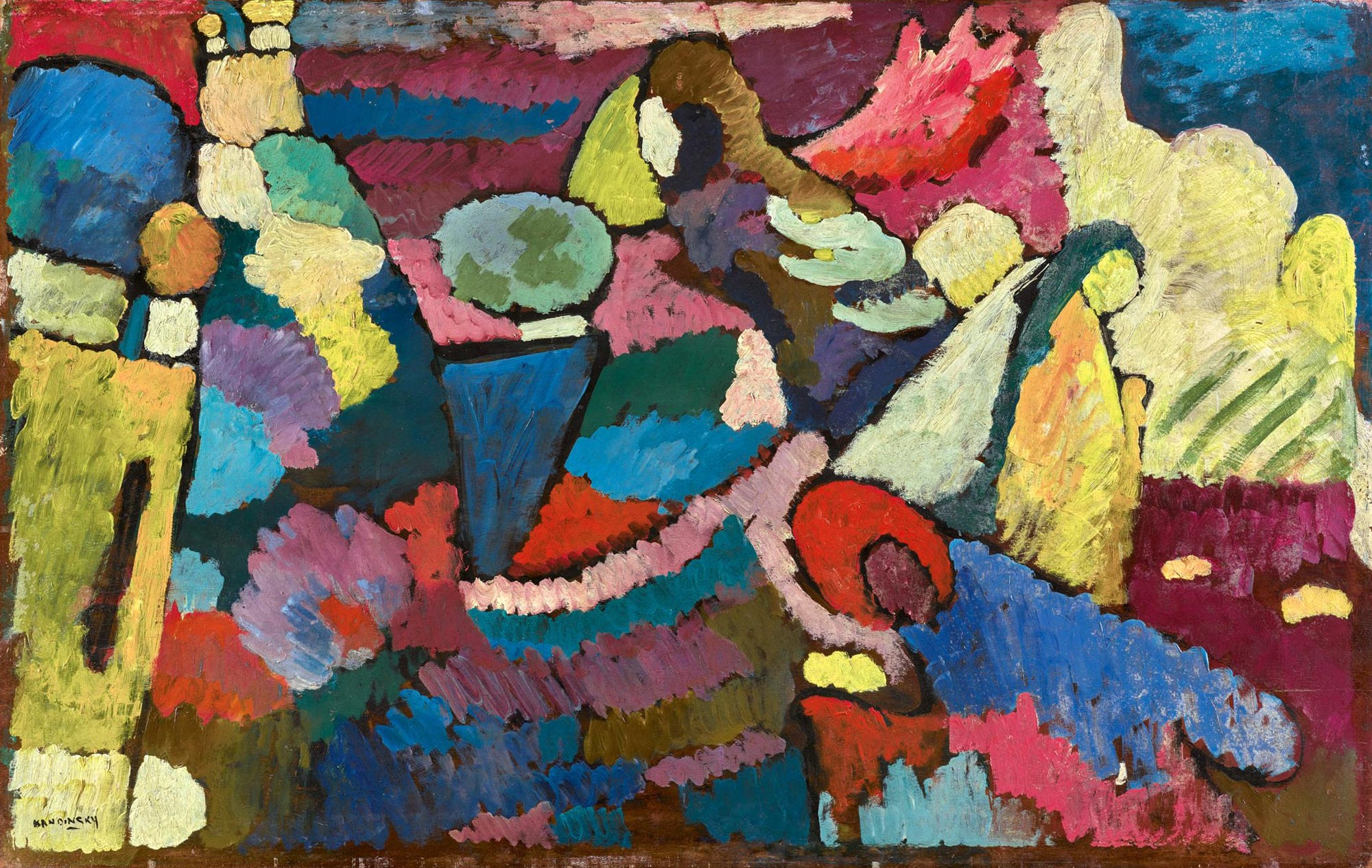 Improvisation on Mahogany (1910)  by Wassily Kandinsky
