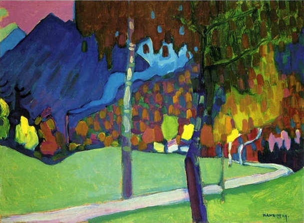 Autumn Study near Oberau (1908)  by Wassily Kandinsky