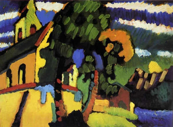 Riegsee. The Village Church (1908)  by Wassily Kandinsky
