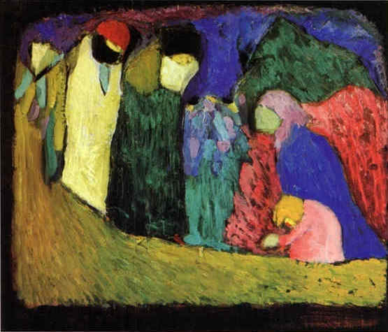 Encounter (1908)  by Wassily Kandinsky