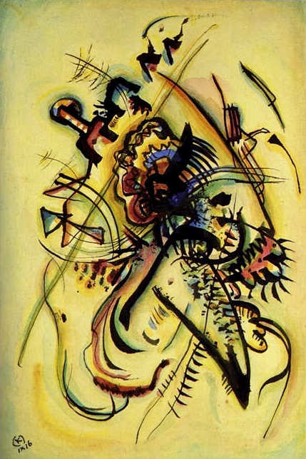 To the Unknown Voice (1916)  by Wassily Kandinsky