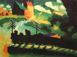 Wassily Kandinsky. Murnau View With Railway And Castle,