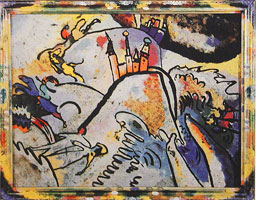Glass Painting with the Sun (Small Pleasures) (1910) by Wassily Kandinsky