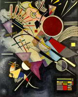 Black Accompaniment (1924) by Wassily Kandinsky