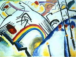 Cossacks (Part of the Composition IV) (1910) by Wassily Kandinsky