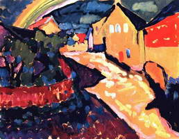 Wassily Kandinsky. Murnau with Rainbow,
