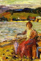 Wassily Kandinsky. Kochel - Lady Seated by a Lakeside,