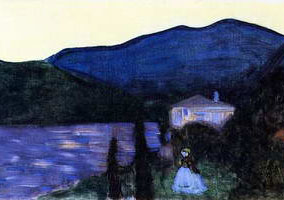 Mountain Landscape with Lake (1902) by Wassily Kandinsky