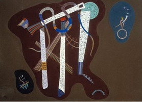 Three Pillars (1943) by Wassily Kandinsky