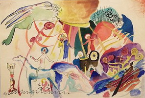Composition with Saints (1911 - 1912) by Wassily Kandinsky