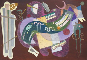 Rigid and Curved (Rigide et Courbé) (1935) by Wassily Kandinsky