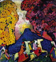 Blue Mountain (1908) by Wassily Kandinsky