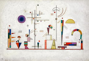 Serious- Fun (1930) by Wassily Kandinsky