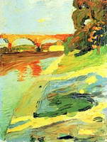 The Isar near Grosshessolohe (1901) by Wassily Kandinsky