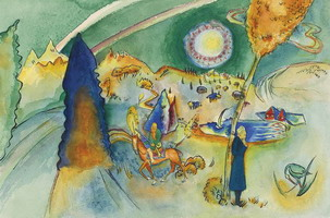 Watercolor for Poul Bjerre (1916) by Wassily Kandinsky