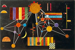 Wassily Kandinsky. Network of above,