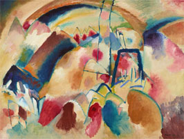 Landscape with church (1913) by Wassily Kandinsky