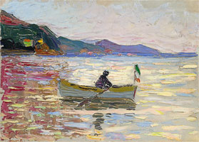 Rapallo - boat in the sea (1906) by Wassily Kandinsky