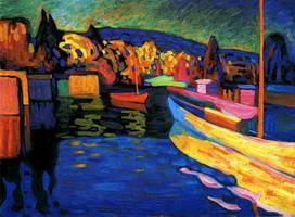 Wassily Kandinsky. Autumn Landscape with Boats, 1908