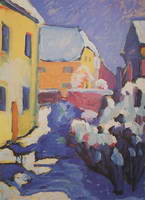 Wassily Kandinsky. Cemetery And Vicarage In Kochel,