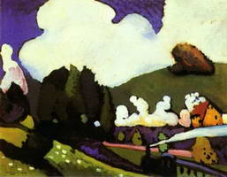 Landscape near Murnau with a Locomotive (1909) by Wassily Kandinsky